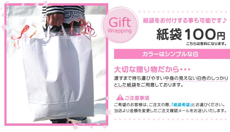 紙袋+オムツケーキ